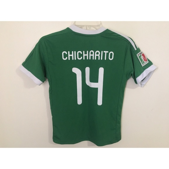 new products 32dc3 3ec7e Javier Chicharito Hernandez #14 Mexico Home Jersey